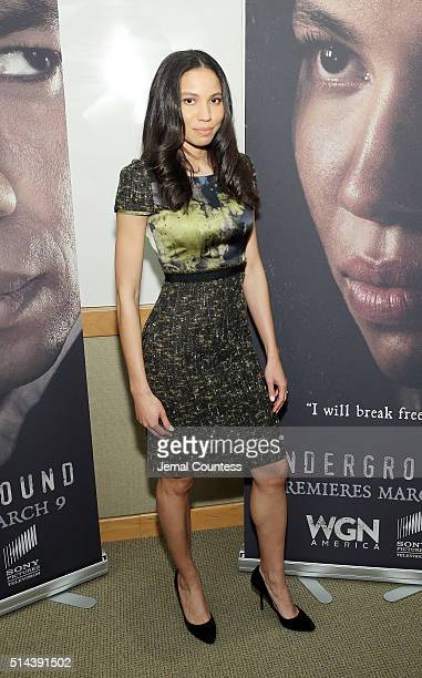 Actress Jurnee SmollettBell attends WGN America Presents the New York Screening Of 'Underground' at the Schomburg Center on March 8 2016 in New York...