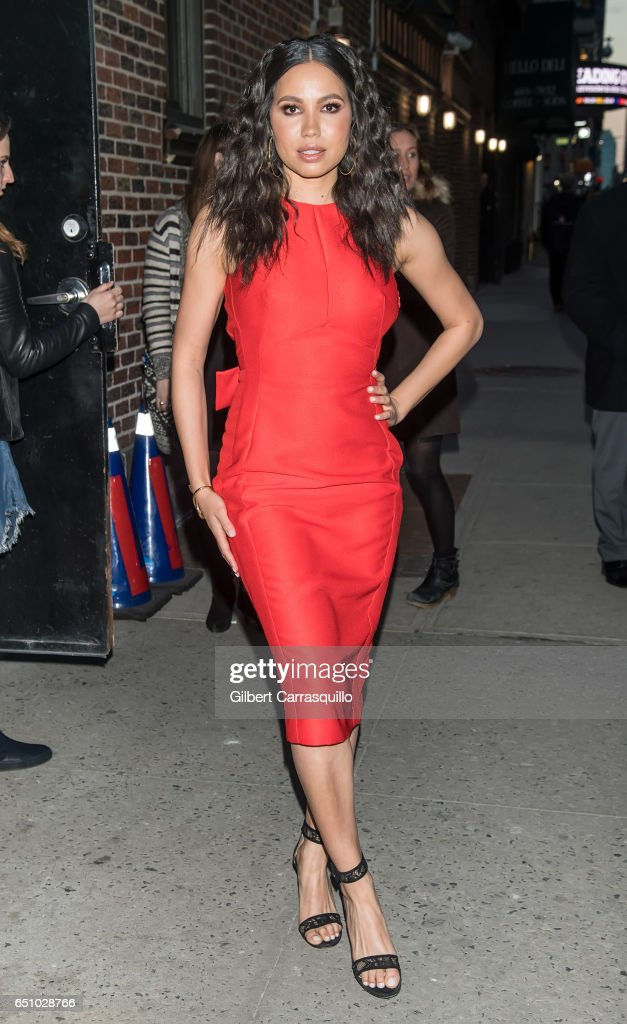 Actress Jurnee Smollett-Bell visits 'The Late Show With Stephen Colbert' at Ed Sullivan Theater on March 9, 2017 in New York City.