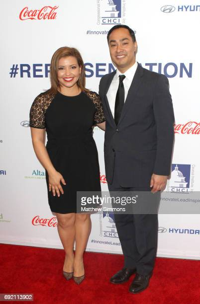 Actress Justina Machado and congressman Joaquin Castro attend CHCI Honors Norman Lear Then And Now A Transformative Conversation at City Club Los...