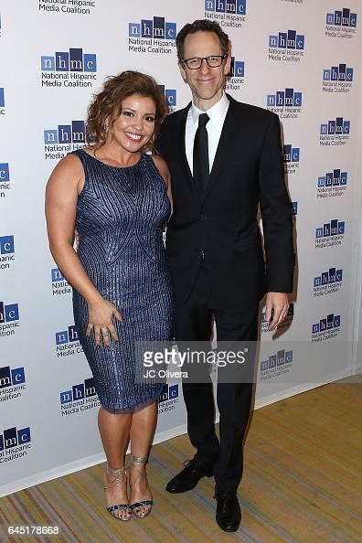 Actress Justina Machado and producer Craig Gerber attend the 20th Annual National Hispanic Media Coalition Impact Awards Gala at Regent Beverly...