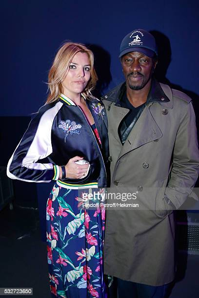 Actress Justine Fraioli and singer Marco Prince attend Tommy Hilfiger Hosts Tommy X Nadal Party Cocktail on May 18 2016 in Paris