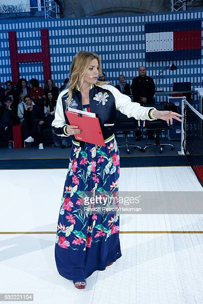 Actress Justine Fraioli animates the Tommy Hilfiger hosts Tommy X Nadal Party Tennis Soccer match on May 18 2016 in Paris