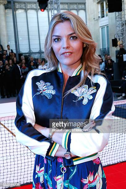 Actress Justine Fraioli attends Tommy Hilfiger hosts Tommy X Nadal Party Photocall on May 18 2016 in Paris