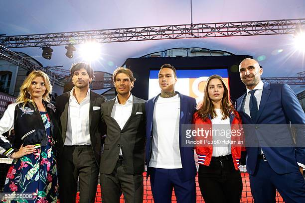 Actress Justine Fraioli Model Andres Velencoso Segura Tennis player Rafael Nadal Football player Gregory van der Wiel Model MarieAnge Casta and...