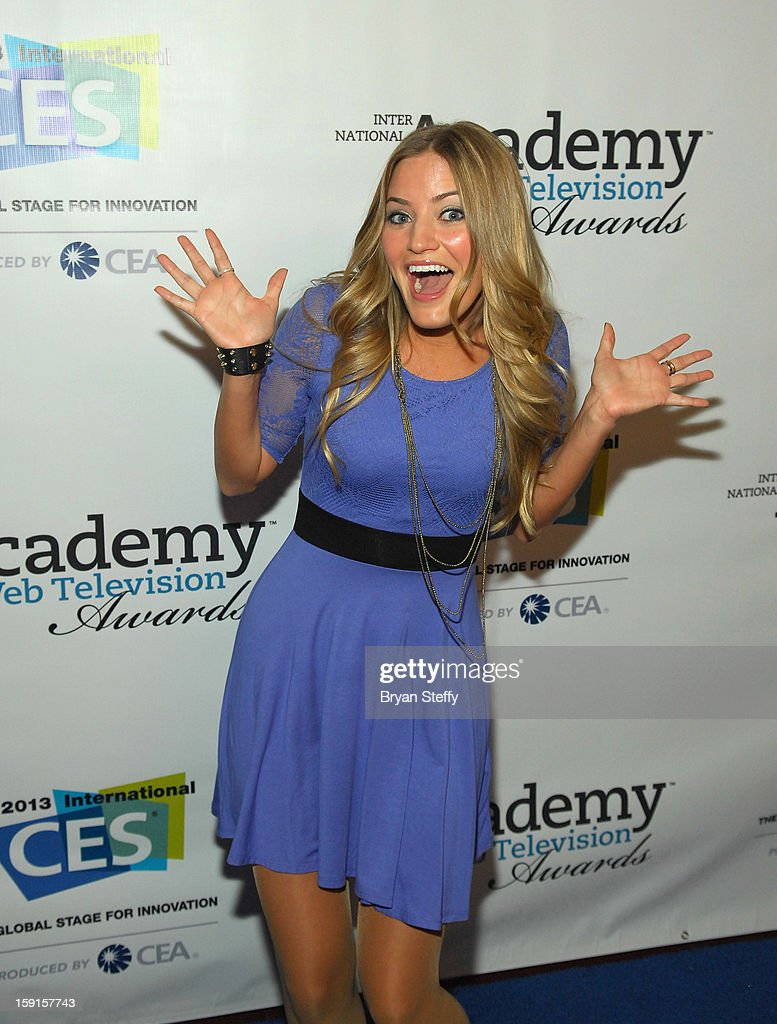Actress Justine 'iJustine' Ezarik arrives at the IAWTV Awards at the CES 2013 Show at the Palazzo Theater at the Palazzo Resort Hotel/Casino on January 8, 2013 in Las Vegas, Nevada.