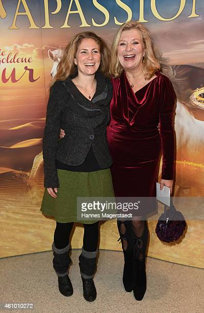 Actress Jutta Speidel and her daughter Franziska attend 'Apassionata Die goldene Spur' Munich Premiere at Olympiahalle on January 3 2015 in Munich...