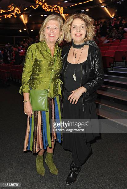 Actress Jutta Speidel and Michaela May attend 'The Who's Tommy' Premiere at Deutsches Theater on April 19 2012 in Munich Germany