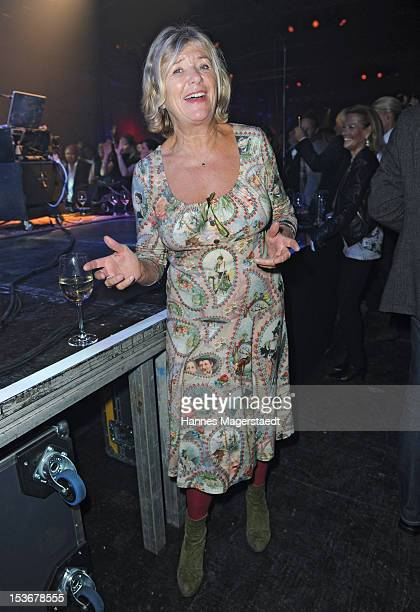 Actress Jutta Speidel attends the Roger Hodgson private concert 'The Voice Of Supertramp' at the Reithalle on October 8 2012 in Munich Germany