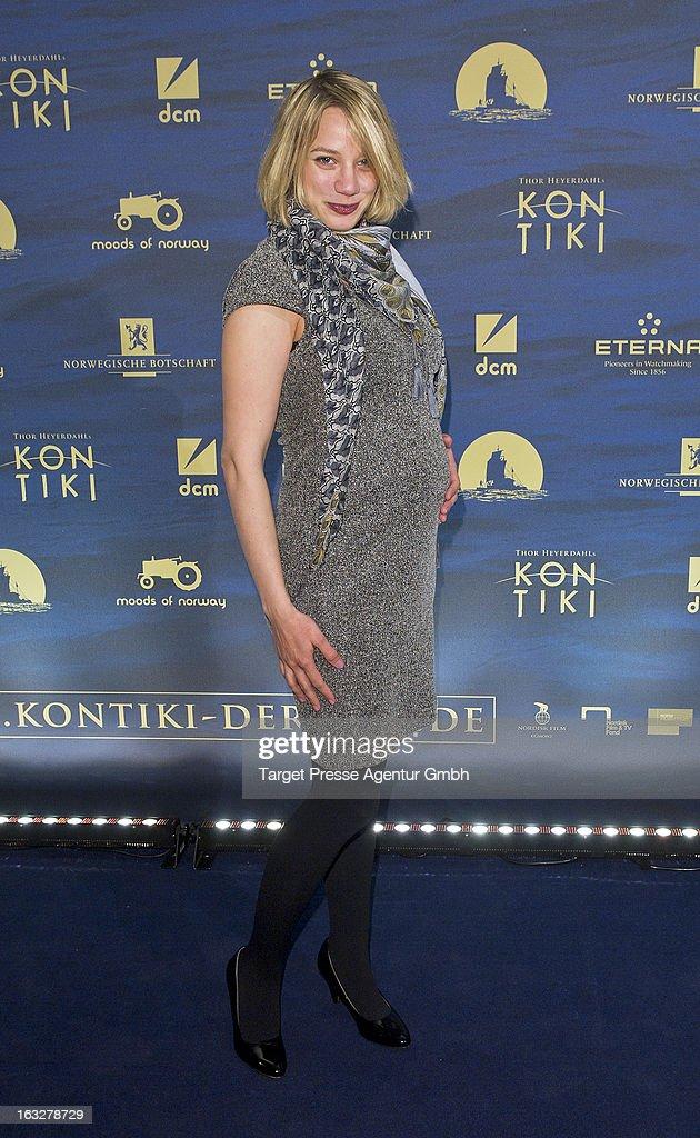Actress Jytte-Merle Boehrnsen attends the 'Kon-Tiki' Premiere at Kino International on March 6, 2013 in Berlin, Germany.