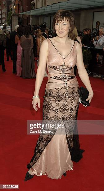 Actress Kacey Ainsworth arrives at the Pioneer British Academy Television Awards 2006 at the Grosvenor House Hotel on May 7 2006 in London England