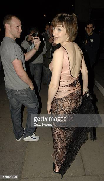 Actress Kacey Ainsworth leaves the Party after the Pioneer British Academy Television Awards 2006 at the Grosvenor House Hotel on May 7 2006 in...