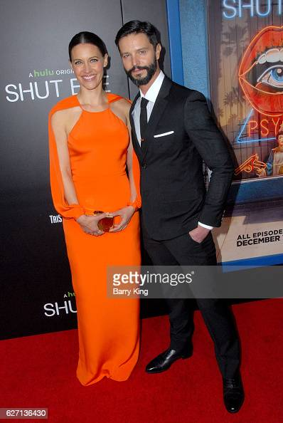 Actress KaDee Strickland and actor Jason Behr attend the premiere of Hulu's 'Shut Eye' at ArcLight Hollywood on December 1 2016 in Hollywood...