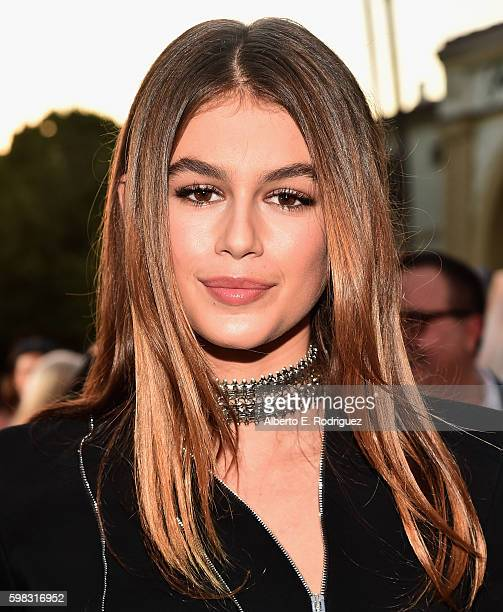 Actress Kaia Gerber attends the premiere of Lifetime's 'Sister Cities' at Paramount Theatre on August 31 2016 in Hollywood California