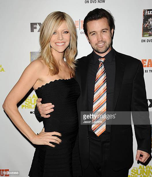 Actress Kaitlin Olson and actor Rob McElhenney attend the FX season premiere screenings for 'It's Always Sunny In Philadelphia' and 'The League' at...