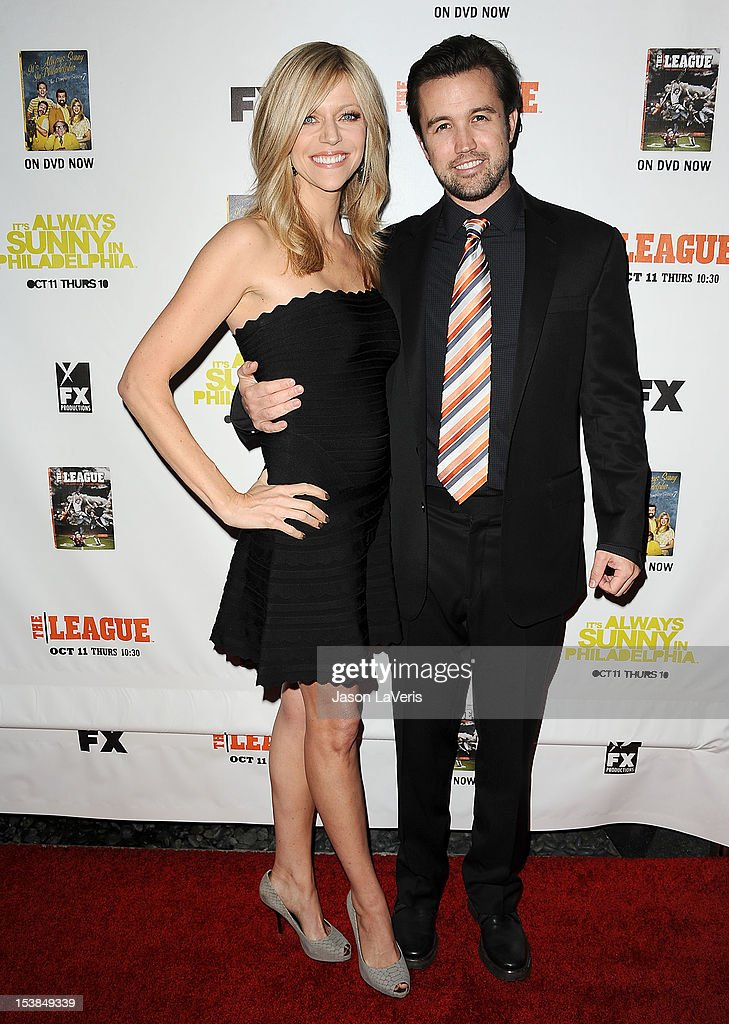 Actress Kaitlin Olson and actor Rob McElhenney attend the FX season premiere screenings for 'It's Always Sunny In Philadelphia' and 'The League' at ArcLight Cinemas Cinerama Dome on October 9, 2012 in Hollywood, California.