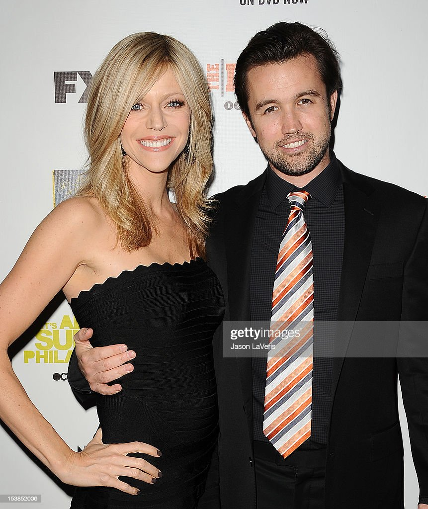 Actress <a gi-track='captionPersonalityLinkClicked' href=/galleries/search?phrase=Kaitlin+Olson&family=editorial&specificpeople=537734 ng-click='$event.stopPropagation()'>Kaitlin Olson</a> and actor <a gi-track='captionPersonalityLinkClicked' href=/galleries/search?phrase=Rob+McElhenney&family=editorial&specificpeople=537737 ng-click='$event.stopPropagation()'>Rob McElhenney</a> attend the FX season premiere screenings for 'It's Always Sunny In Philadelphia' and 'The League' at ArcLight Cinemas Cinerama Dome on October 9, 2012 in Hollywood, California.