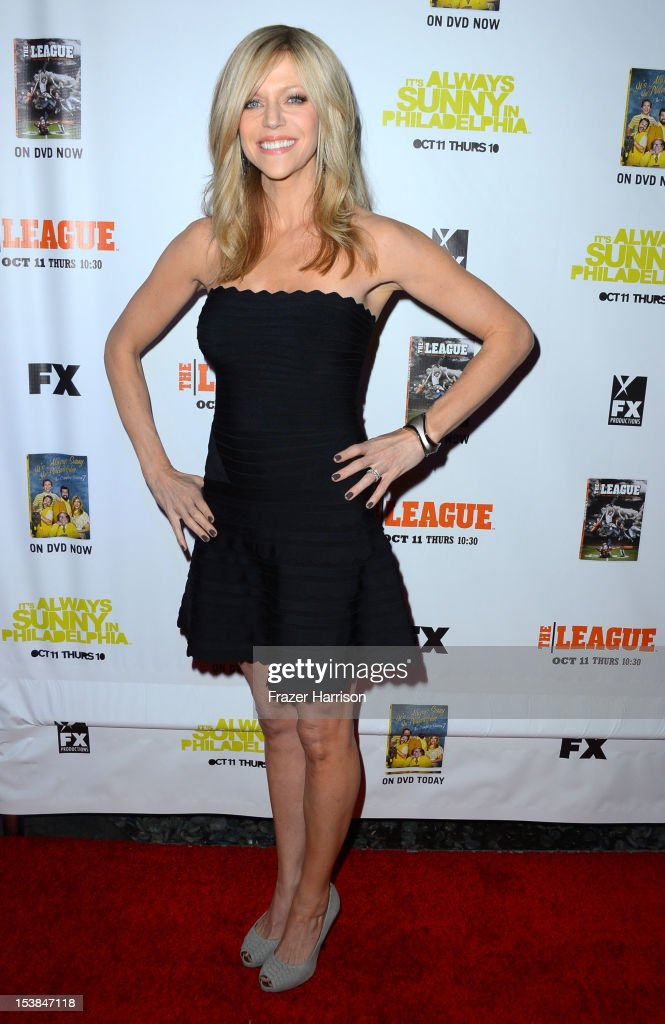 Actress Kaitlin Olson arrives at the Premiere Screenings of FX's 'It's Always Sunny In Philadelphia' Season 8 and 'The League' Season 4 at ArcLight Cinemas Cinerama Dome on October 9, 2012 in Hollywood, California.