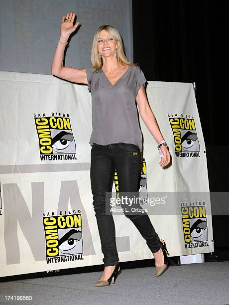 Actress Kaitlin Olson speaks onstage at the 'It's Always Sunny In Philadelphia' screening and QA during ComicCon International 2013 at San Diego...