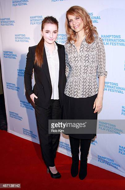 Actress Kaitlyn Dever and director Lynn Shelton attend the Laggies premiere during the 2014 Hamptons International Film Festival on October 12 2014...