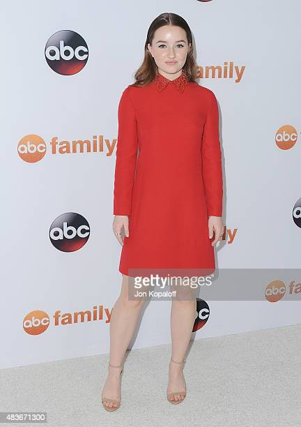 Actress Kaitlyn Dever arrives at Disney ABC Television Group's 2015 TCA Summer Press Tour at the Beverly Hilton Hotel on August 4 2015 in Beverly...