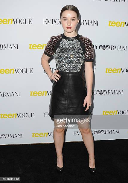 Actress Kaitlyn Dever arrives at Teen Vogue's 13th Annual Young Hollywood Issue Launch Party on October 2 2015 in Los Angeles California
