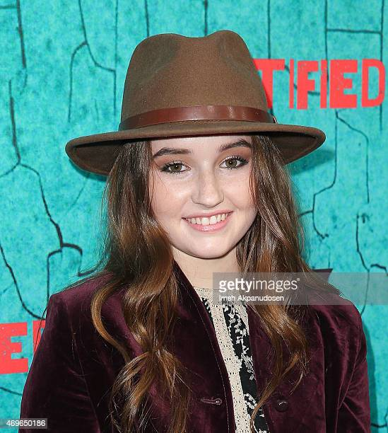 Actress Kaitlyn Dever attends the premiere of FX's 'Justified' series finale at ArcLight Cinemas Cinerama Dome on April 13 2015 in Hollywood...