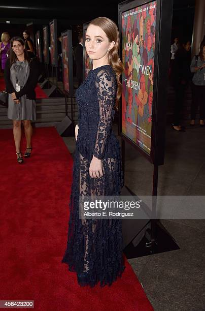 Actress Kaitlyn Dever attends the premiere of Paramount Pictures' 'Men Women Children' at Directors Guild of America on September 30 2014 in Los...