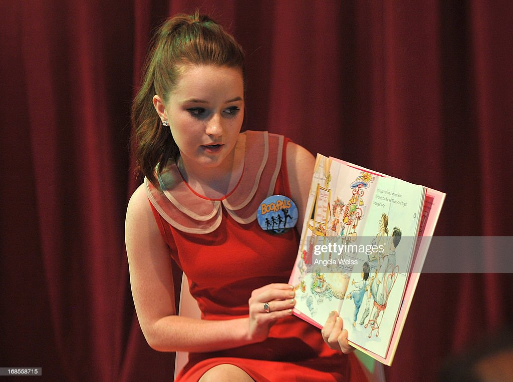 Actress Kaitlyn Dever reads at the Screen Actors Guild Foundation 20 Years Of BookPALS celebration at West Hollywood City Council Chamber on May 11, 2013 in West Hollywood, California.