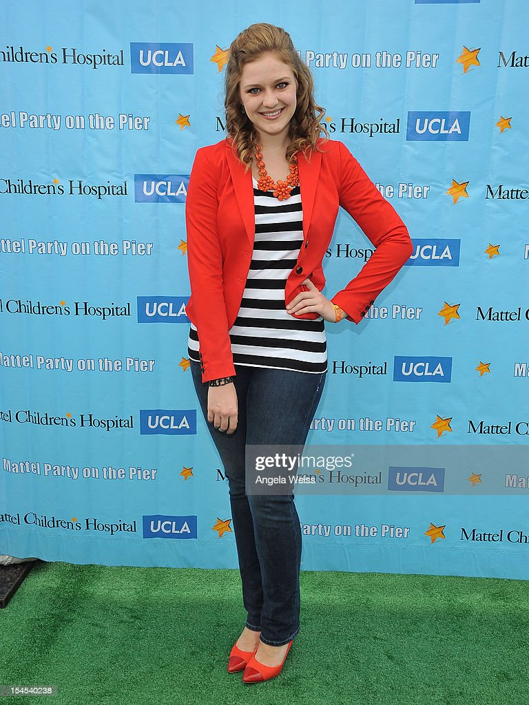 Actress Kaitlyn Jenkins arrives to the 'Mattel Party on the Pier' benefiting Mattel Children's Hospital UCLA at Pacific Park on the Santa Monica Pier on October 21, 2012 in Santa Monica, California.