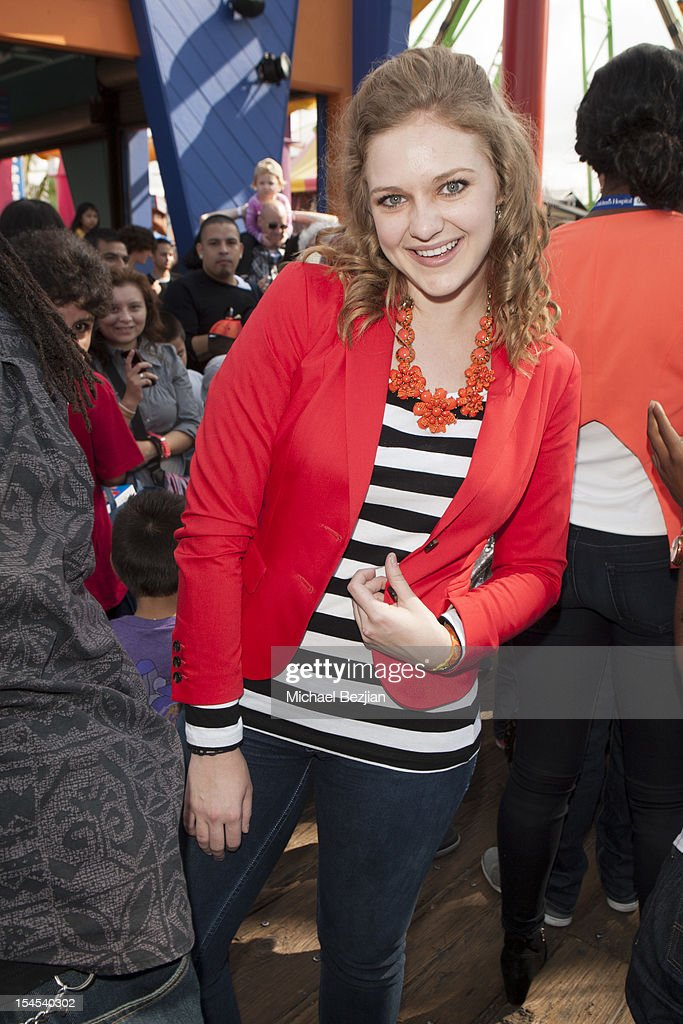 Actress Kaitlyn Jenkins attends Mattel Party On The Pier Benefiting Mattel Children's Hospital UCLA - Inside at Pacific Park at Santa Monica Pier on October 21, 2012 in Santa Monica, California.
