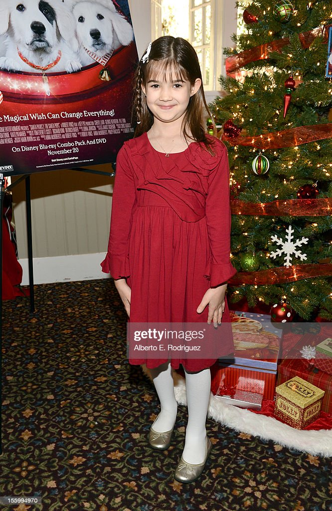 Actress Kaitlyn Maher attends the 'Santa Paws 2: The Santa Pups' holiday party hosted by Disney, Cheryl Ladd, and Ali Landry at The Victorian on November 10, 2012 in Santa Monica, California.
