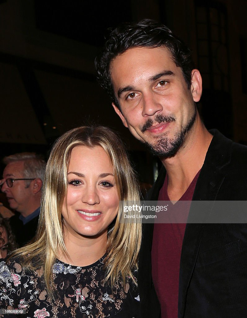 Actress <a gi-track='captionPersonalityLinkClicked' href=/galleries/search?phrase=Kaley+Cuoco&family=editorial&specificpeople=208988 ng-click='$event.stopPropagation()'>Kaley Cuoco</a> (L) and fiance professional tennis player <a gi-track='captionPersonalityLinkClicked' href=/galleries/search?phrase=Ryan+Sweeting&family=editorial&specificpeople=851783 ng-click='$event.stopPropagation()'>Ryan Sweeting</a> attend the Amanda Foundation's Annual Bow Wow Beverly Hills Halloween event at Two Rodeo on October 27, 2013 in Beverly Hills, California.