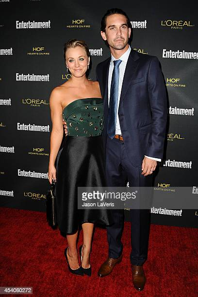Actress Kaley Cuoco and husband Ryan Sweeting attend the 2014 Entertainment Weekly preEmmy party at Fig Olive Melrose Place on August 23 2014 in West...