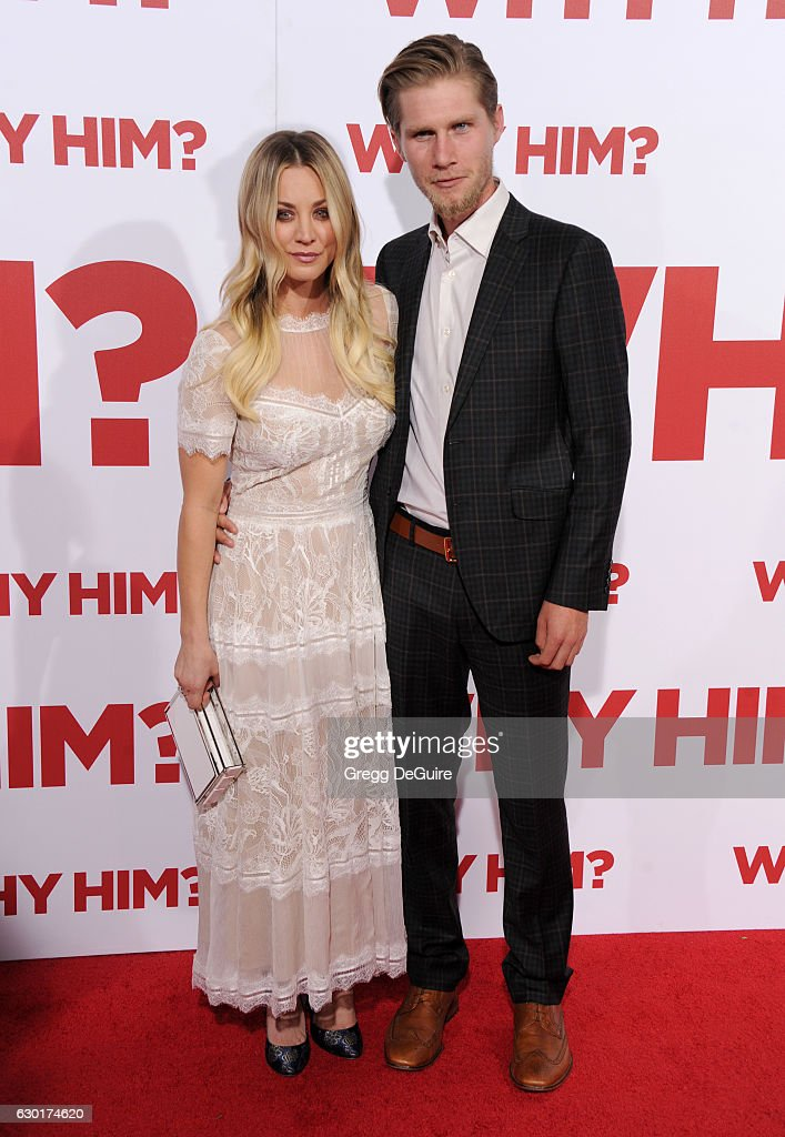 Actress Kaley Cuoco and Karl Cook arrive at the premiere of 20th Century Fox's 'Why Him?' at Regency Bruin Theater on December 17, 2016 in Westwood, California.