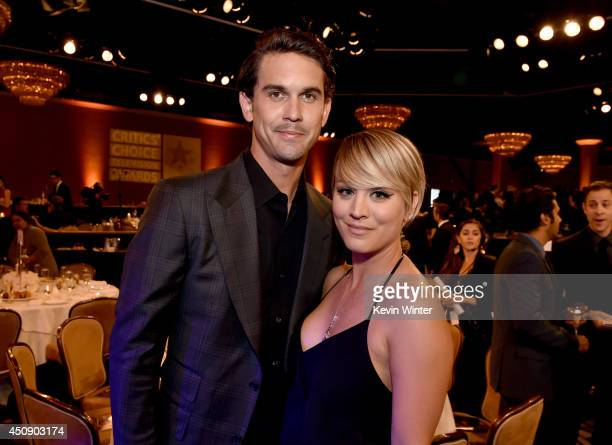 Actress Kaley Cuoco and Ryan Sweeting attend the 4th Annual Critics' Choice Television Awards at The Beverly Hilton Hotel on June 19 2014 in Beverly...