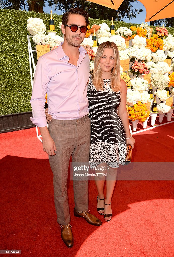 Actress Kaley Cuoco (R) and Ryan Sweeting attend The Fourth-Annual Veuve Clicquot Polo Classic, Los Angeles at Will Rogers State Historic Park on October 5, 2013 in Pacific Palisades, California.