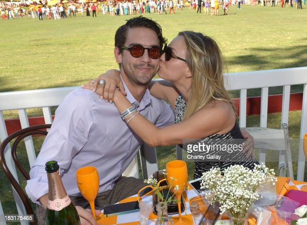 Actress Kaley Cuoco and Ryan Sweeting attends The FourthAnnual Veuve Clicquot Polo Classic Los Angeles at Will Rogers State Historic Park on October...