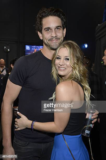 Actress Kaley Cuoco and tennis player Ryan Sweeting attend The 40th Annual People's Choice Awards at Nokia Theatre LA Live on January 8 2014 in Los...