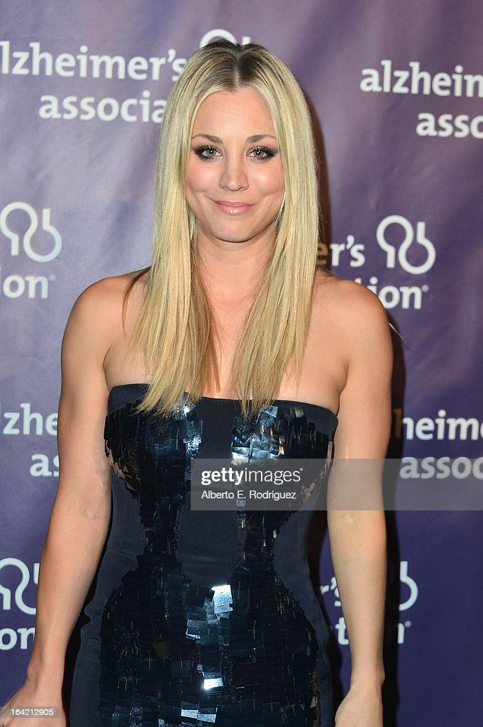 Actress <a gi-track='captionPersonalityLinkClicked' href=/galleries/search?phrase=Kaley+Cuoco&family=editorial&specificpeople=208988 ng-click='$event.stopPropagation()'>Kaley Cuoco</a> arrives at 21st Annual 'A Night At Sardi's' gala benefiting the Alzheimer's Association - Arrivals at The Beverly Hilton Hotel on March 20, 2013 in Beverly Hills, California.