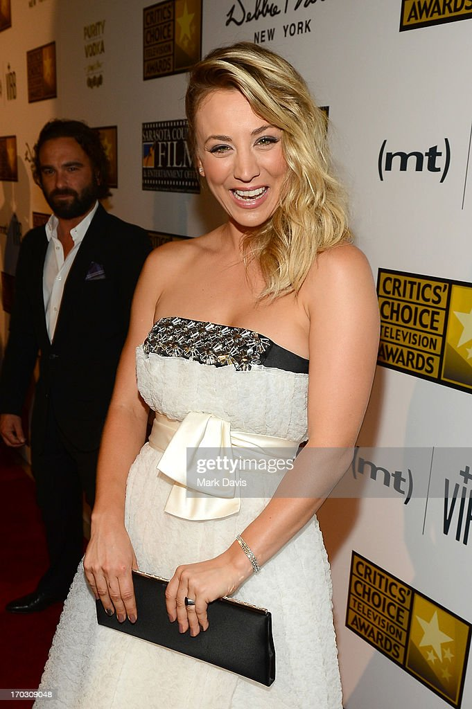 Actress Kaley Cuoco arrives at Broadcast Television Journalists Association's third annual Critics' Choice Television Awards at The Beverly Hilton Hotel on June 10, 2013 in Los Angeles, California.