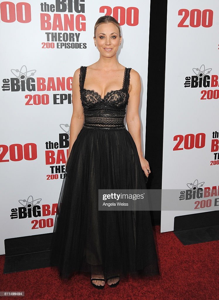 Actress Kaley Cuoco arrives at CBS's 'The Big Bang Theory' Celebrates 200th Episode at Vibiana on February 20 2016 in Los Angeles California
