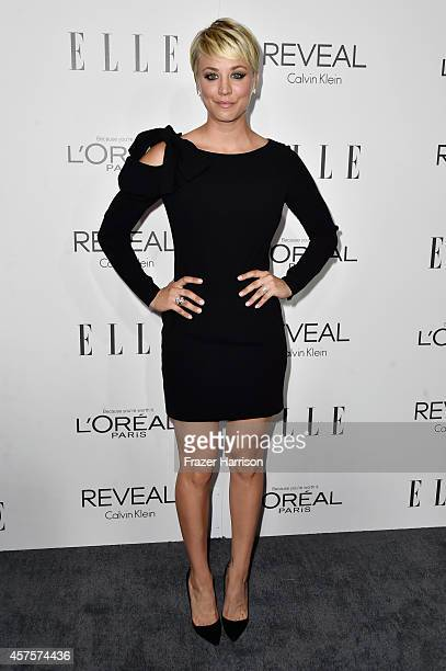 Actress Kaley Cuoco arrives at ELLE's 21st Annual Women In Hollywood at Four Seasons Hotel Los Angeles at Beverly Hills on October 20 2014 in Beverly...