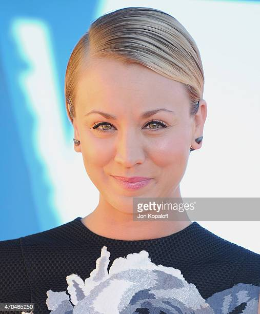 Actress Kaley Cuoco arrives at Nickelodeon's 28th Annual Kids' Choice Awards at The Forum on March 28 2015 in Inglewood California