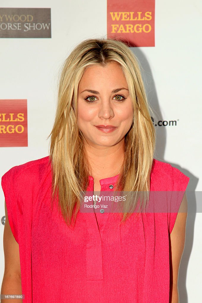 Actress <a gi-track='captionPersonalityLinkClicked' href=/galleries/search?phrase=Kaley+Cuoco&family=editorial&specificpeople=208988 ng-click='$event.stopPropagation()'>Kaley Cuoco</a> arrives at the 23rd Annual William Shatner Priceline.com Hollywood Charity Horse Show at Los Angeles Equestrian Center on April 27, 2013 in Los Angeles, California.