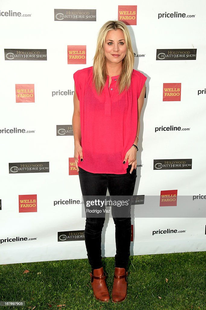 Actress Kaley Cuoco arrives at the 23rd Annual William Shatner Priceline.com Hollywood Charity Horse Show at Los Angeles Equestrian Center on April 27, 2013 in Los Angeles, California.