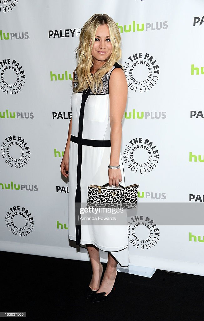 Actress Kaley Cuoco arrives at the 30th Annual PaleyFest: The William S. Paley Television Festival featuring 'The Big Bang Theory' at the Saban Theatre on March 13, 2013 in Beverly Hills, California.