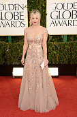 Actress Kaley Cuoco arrives at the 70th Annual Golden Globe Awards held at The Beverly Hilton Hotel on January 13 2013 in Beverly Hills California