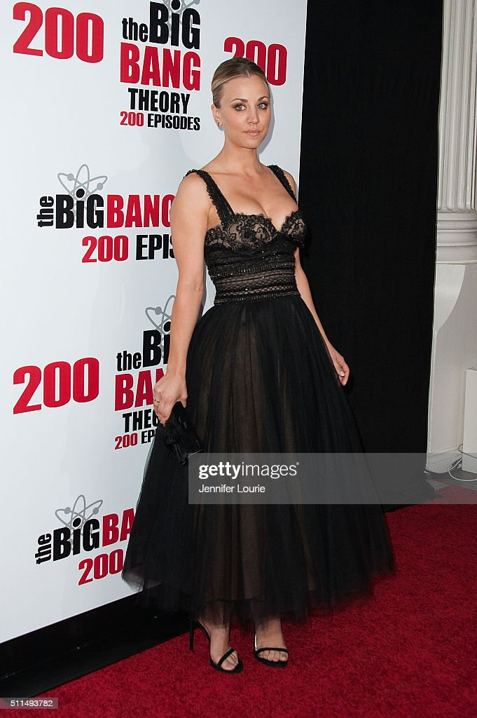 Actress Kaley Cuoco arrives at the CBS's 'The Big Bang Theory' Celebrates 200th Episode at the Vibiana on February 20 2016 in Los Angeles California