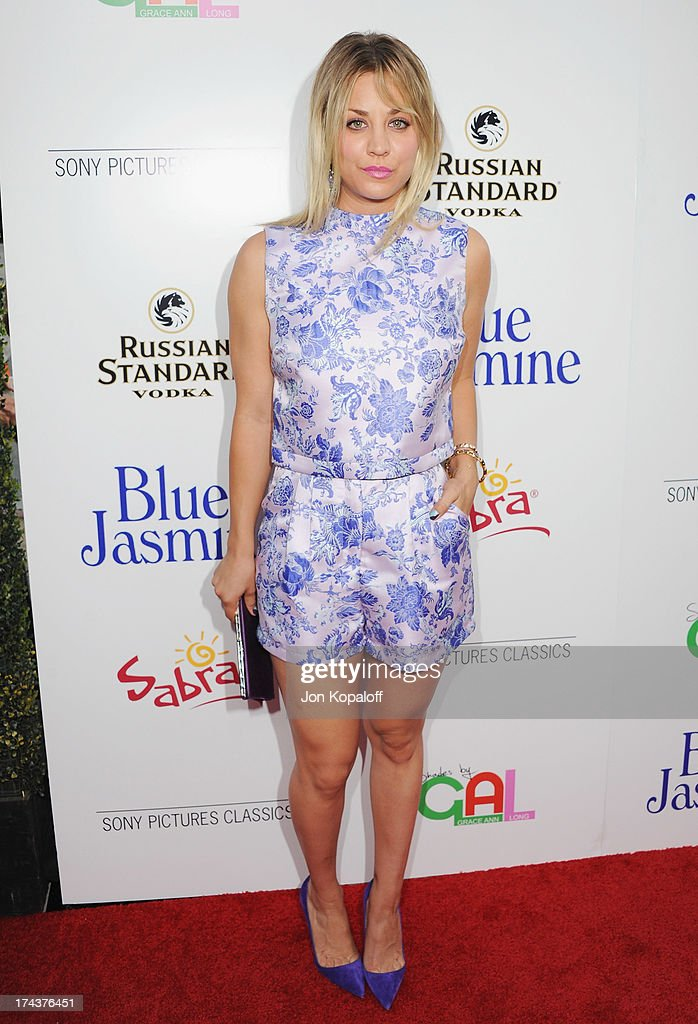 Actress Kaley Cuoco arrives at the Los Angeles Premiere 'Blue Jasmine' at the Academy of Motion Picture Arts and Sciences on July 24, 2013 in Beverly Hills, California.