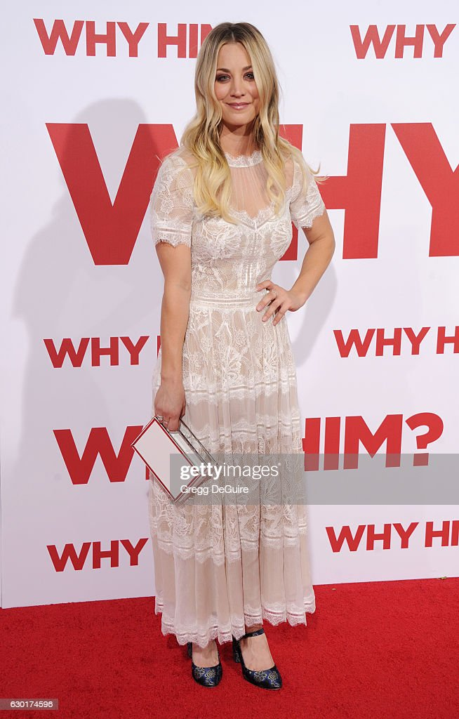 Actress Kaley Cuoco arrives at the premiere of 20th Century Fox's 'Why Him?' at Regency Bruin Theater on December 17, 2016 in Westwood, California.